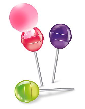 Filled lollipops